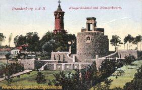 Brandenburg a. H., Kriegerdenkmal und Bismarckwarte