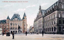 Bremen, Gerichtsgebäude, Hauptpost, Domsheide