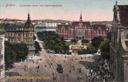 Brünn, Deutsches Haus und Lazansky-Platz