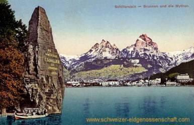 Brunnen, Schillerstein und die Mythen