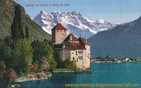 Château de Chillon et Dents du Midi