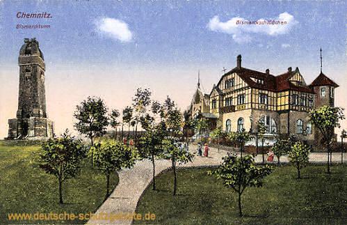 Chemnitz, Bismarckturm und Bismarckschlößchen