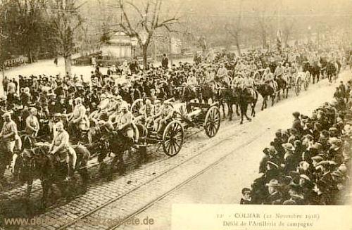 Colmar 1918, Einmarsch der französischen Armee