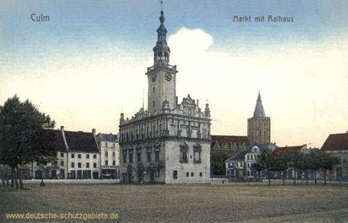 Culm, Markt mit Rathaus