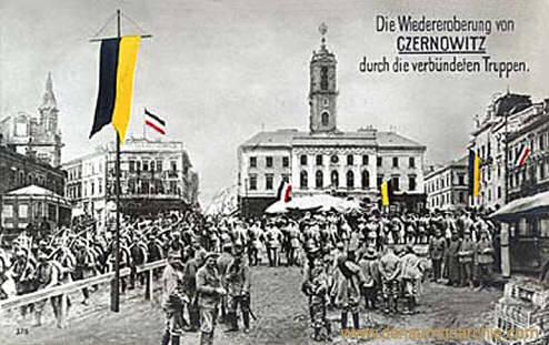 Die Wiedereroberung von Czernowitz durch die verbündeten Truppen. (Erster Weltkrieg)