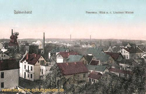 Delmenhorst, Panorama, Blick auf die Linoleumwerke