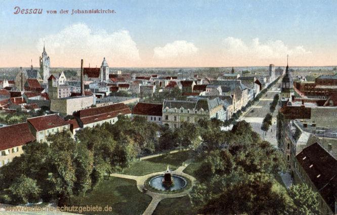 Dessau von der Johanniskirche