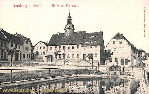 Dornburg, Markt mit Rathaus