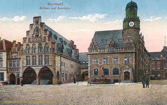 Dortmund, Rathaus und Sparkasse