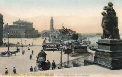Dresden Blick von den Brühl'schen Terrassen
