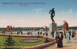 Dresden, Internationale Hygiene-Ausstellung 1911 Sportplatz