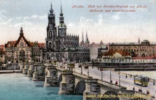Dresden, Schloss, Hofkirche und Gemäldegalerie