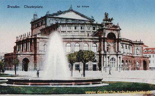 Dresden, Theaterplatz, Königliche Hofoper (Semperoper)
