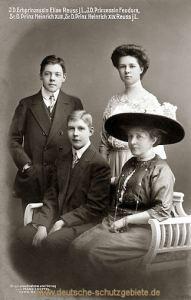 I.D. Erbprinzessin Elise Reuss j.L., I.D. Prinzessin Feodora, Sr.D. Heinrich XLIII., Sr.D. Heinrich XLV. Reuss j.L.