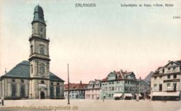 Erlangen, Luitpoldplatz mit franz. reform. Kirche