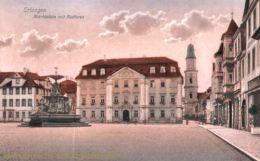 Erlangen, Marktplatz mit Rathaus