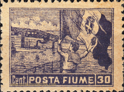 Posta Fiume, 1919
