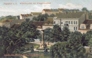 Frankfurt a. O., Wilhelmsplatz mit Kriegerdenkmal