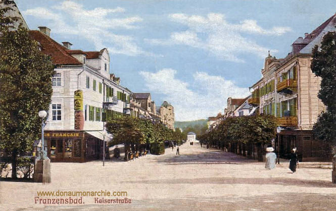 Franzensbad, Kaiserstraße