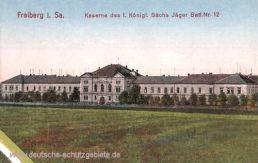 Freiberg, Kaserne des 1. Königl. Sächs. Jäger Bataillon Nr. 12