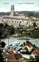 Fribourg, Grand rue et Cathedrale