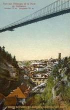 Vue sur Fribourg et le Pont du Gotteron