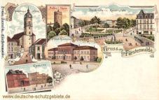 Fürstenwalde, Kaiserplatz, Städtisches Gymnasium, Kaserne