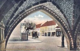 Fürstenwalde, Rathausbogen mit Durchblick zum Markt