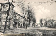Fürstenwalde, Schützenstraße mit Bahnhof