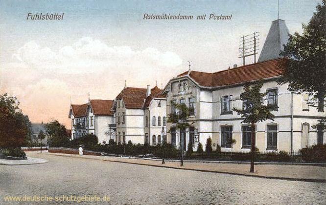 Fühlsbüttel, Ratsmühlendamm mit Postamt