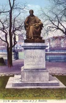 Genève, Statue de J. J. Rousseau