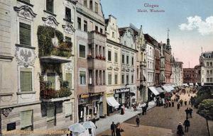 Glogau, Markt, Westseite