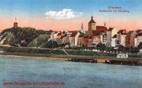 Graudenz, Speicherseite mit Schlossberg