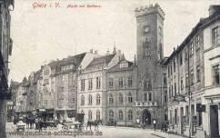 Greiz, Markt mit Rathaus