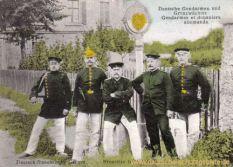 Grenze Frankreich Deutschland Deutsche Gendarmen und Grenzwächter