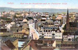 Guben,Blick von der Hauptkirche nach der Frankfurter Straße