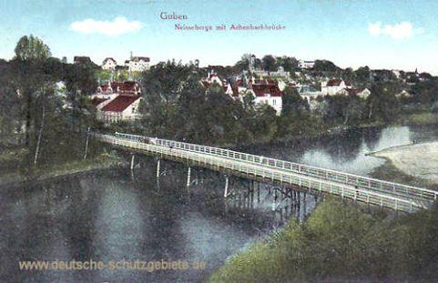 Guben, Neisseberge mit Achenbachbrücke