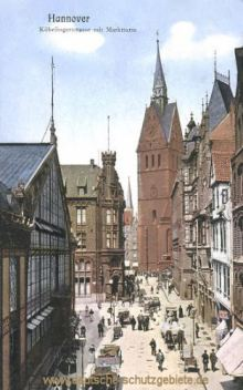 Hannover, Köbelingerstraße mit Marktturm