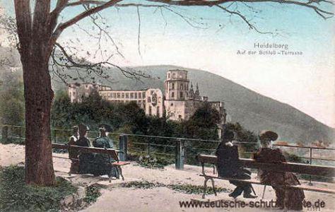 Heidelberg, Auf der Schloss-Terrasse