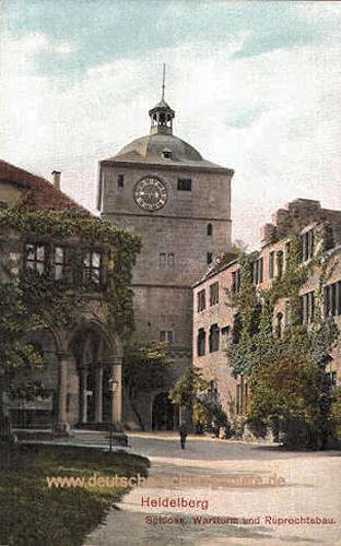 Heidelberg, Schloss, Wartturm und Ruprechtsbau
