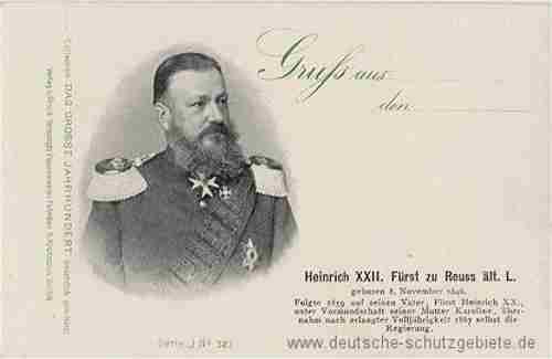 Heinrich XXII. Fürst zu Reuß ältere Linie