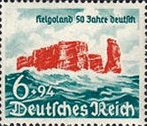 6 + 94 Pfennig, Deutsches Reich 1940, Helgoland 50 Jahre deutsch
