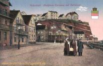 Helgoland, Mathiess-Terrasse mit Felseneck