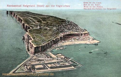 Helgoland aus der Vogelschau