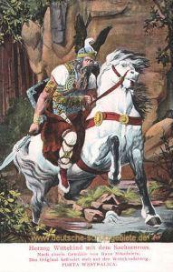 Herzog Wittekind mit dem Sachsenross