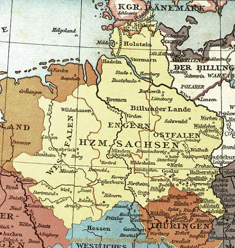 Herzogtum Sachsen mit Westfalen, Engern und Ostfalen