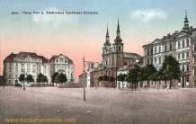 Iglau, Neue Post und Städtisches Sparkassa-Gebäude