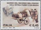 Gedenkmarke der Vertriebenen aus Istrien, Fiume und Dalmatien, Italia 2005