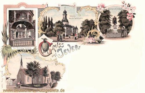 Jever, Schloss, Kirche, Mitscherlich-Denkmal
