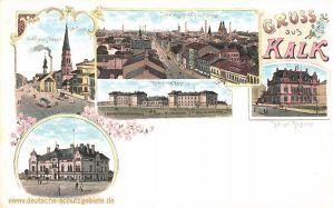 Kalk, Kronprinz-Kaserne, Offizierskasino, Kaiserliches Postamt, Hauptstraße